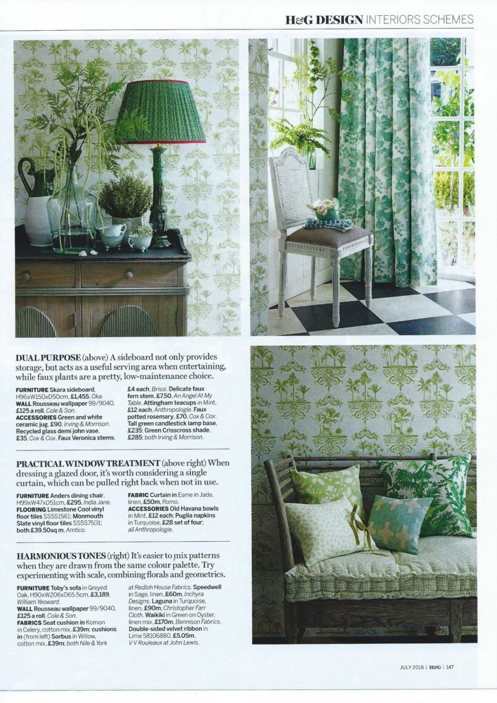 Homes & Gardens July N&Y, I&M