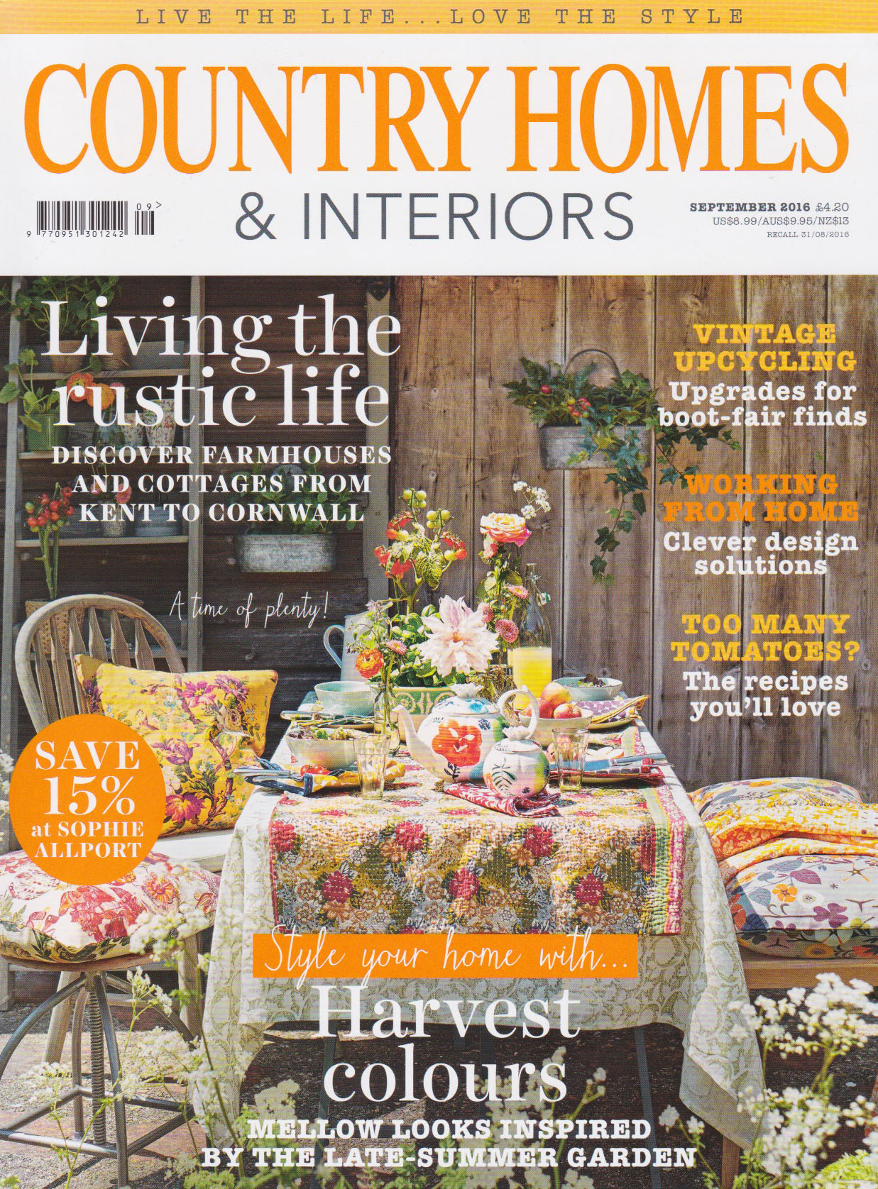 Country Homes And Interiors country homes & interiors september 2016 - sorbus saffron - nile